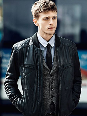 Leather Jacket With Formal Shirt